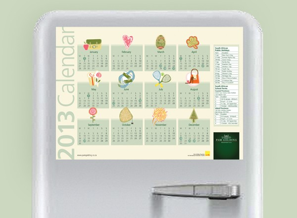 Pam Golding Properties Calendars 2013